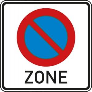 VZ 290.1 Verkehrsschild  Halteverbot für eine Zone