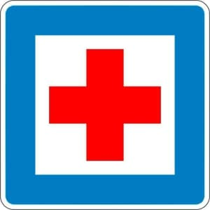 Erste Hilfe (Verkehrsschild Nr. 358)