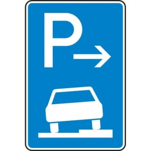 Verkehrszeichen 315-57 Parken auf Gehwegen Schild (Ende)