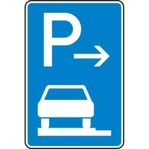Verkehrszeichen 315-61 Parken auf Gehwegen Schild (Anfang)