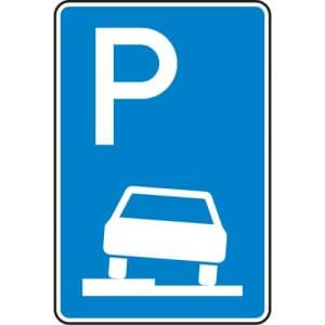 Verkehrszeichen 315-50  Parken auf Gehwegen Schild
