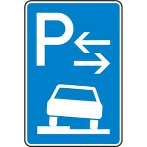 Verkehrszeichen 315-53 Parken auf Gehwegen Schild (Mitte)