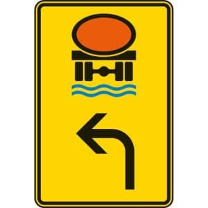 VZ 442-12 Vorwegweiser Wassergefährdende Ladung