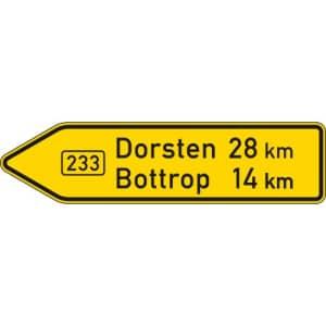 VZ 415-10 Pfeilwegweiser auf Bundesstraßen