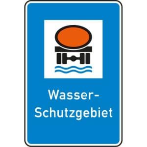 Wasserschutzgebiet Schild gemäß StVO - Verkehrszeichen 354