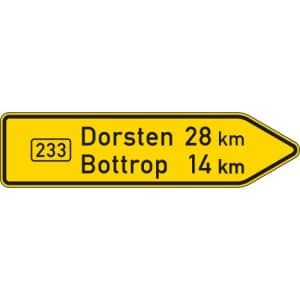 Pfeilwegweiser auf Bundesstraßen VZ 415-20