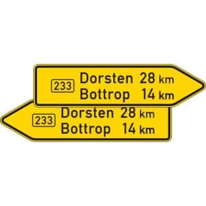 VZ 415-40 Pfeilwegweiser auf Bundesstraßen