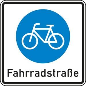 VZ 244.1 Fahrradstraße Beginn Verkehrszeichen