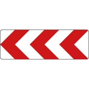 VZ 625-10 Richtungstafeln in Kurven linksweisend