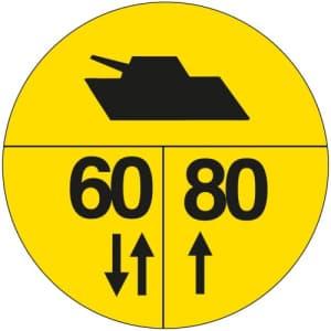 Militärische Tragfähigkeitszeichen an Brücken - BR1