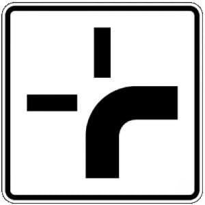 VZ 1002-20 Zusatzschild Verlauf der Vorfahrtstraße