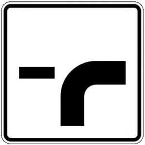 Verlauf der Vorfahrtstraße Zusatzschild mit VZ 1002-23