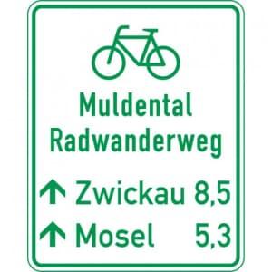 Radwegschild - Tabellenwegweiser