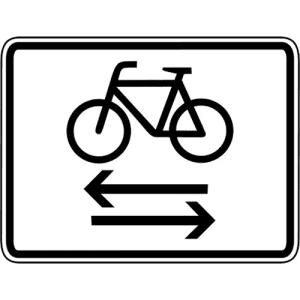 Kreuzender Radverkehr von links und rechts VZ 1000-32