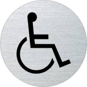 Symbol - WC behindertengerecht (rund)