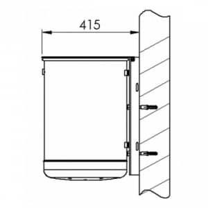 Rund-Abfallbehälter EP inkl. Ascher mit Deckelscheibe - Inhalt 3,5 + 46,5 Liter