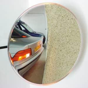 Verkehrsspiegel für Privatausfahrten - Überprüfung von 2 Richtungen