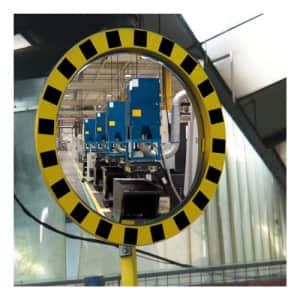 Industriespiegel gelb/schwarz - Überprüfung von 2 Richtungen