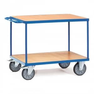 Schwerer Tischwagen mit 2 Holzböden - Tragkraft 500 / 600 kg