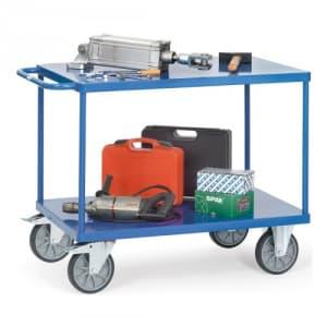 Schwerer Tischwagen mit 2 Stahlblechböden - Tragkraft 500 / 600 kg