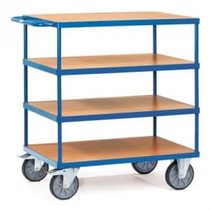 Schwerer Tischwagen mit 4 Holzböden  - Tragkraft 600 kg