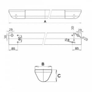 Anti-Vandalen-Leuchte AVL-LUX CLASSIC (Wand-/Deckenaufbau)