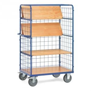 Etagenwagen mit faltbaren Böden und Drahtgitterwänden   - Tragkraft 500 kg