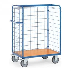 Paketwagen mit Drahtgitterwänden - Gesamthöhe 1500 mm  - Tragkraft 600 kg
