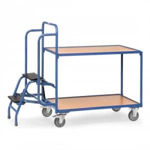 Kommissionierwagen mit 2 Böden und Trittstufen  - Tragkraft 250 kg