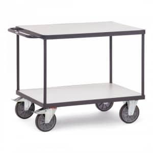 ESD-Tischwagen mit 2 Böden und waagerechtem Schiebegriff - Tragkraft 500 / 600 kg