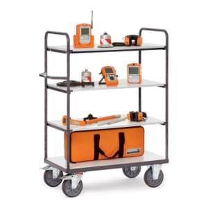 ESD-Etagenwagen mit 4 Böden - Tragkraft 500 / 600 kg