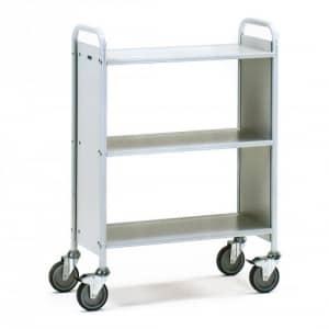 Bürowagen mit 3 Böden und Seitenwänden   - Tragkraft 150 kg