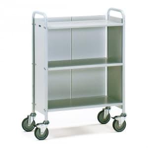 Bürowagen mit 3 Böden, Seitenwänden und Längswand (Rückwand)   - Tragkraft 150 kg