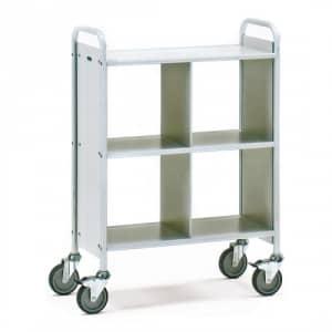 Bürowagen mit 3 Böden, Seitenwänden und Trennwand   - Tragkraft 150 kg