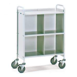 Bürowagen mit 3 Böden, Seitenwänden, Trennwand und Längswand (Rückwand)   - Tragkraft 150 kg