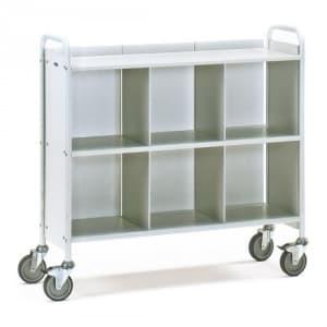 Bürowagen mit 3 Böden, Seitenwänden, 2 Trennwänden und Längswand (Rückwand)   - Tragkraft 150 kg