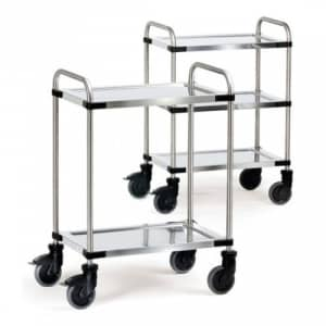 Edelstahlwagen mit 2 / 3 Böden - Tragkraft 120 / 150 kg