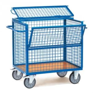Drahtkastenwagen mit Deckel  - Tragkraft 600 kg
