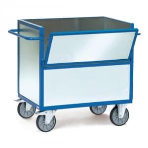 Blechkastenwagen mit Wänden aus verzinktem Stahlblech  - Tragkraft 600 kg