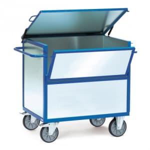 Blechkastenwagen mit Wänden aus verzinktem Stahlblech und Deckel  - Tragkraft 600 kg