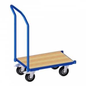 Eurokasten-Roller mit Holzbodenplatte und Schiebebügel  - Tragkraft 250 kg