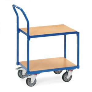 Etagenroller mit 2 Holzbodenplatten und Schiebebügel  - Tragkraft 250 kg