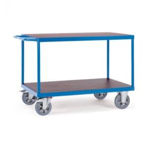 Schwerer Tischwagen mit 2 Böden - Tragkraft 1200 kg