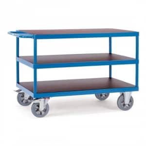 Schwerer Tischwagen mit 3 Böden - Tragkraft 1200 kg
