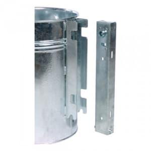 Rund-Abfallbehälter mit Prägung ABFALL - Inhalt 35 Liter