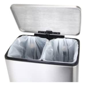 Recycling Tritt-Mülleimer E-CUBE, EKO - Inhalt 10 + 9 Liter