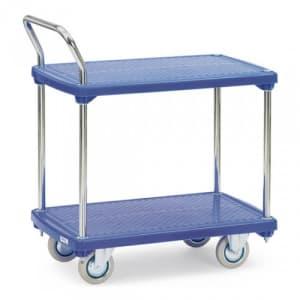 Kunststoffplattenwagen mit 2 Böden - Tragkraft 200 kg