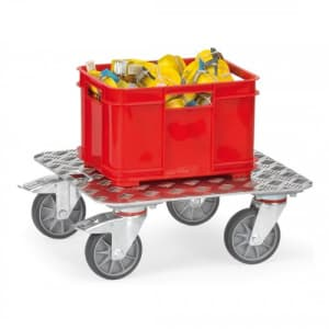 Alu-Kistenroller KF 10 mit Alu-Quintettblechboden - Tragkraft 250 kg