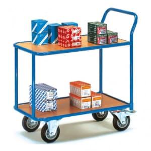 Tischwagen mit 2 Holzböden - Tragkraft 300 / 400 kg
