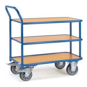 Tischwagen mit 3 Holzböden - Tragkraft 400 kg